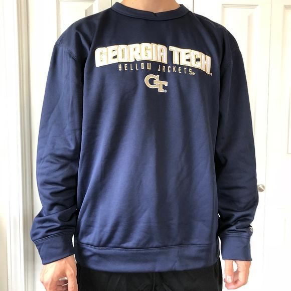 14755cea0701 Champion Georgia Tech Blue Pullover Sweatshirt L